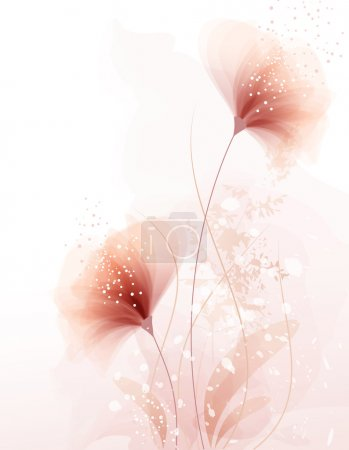 vector background with pastel flowers