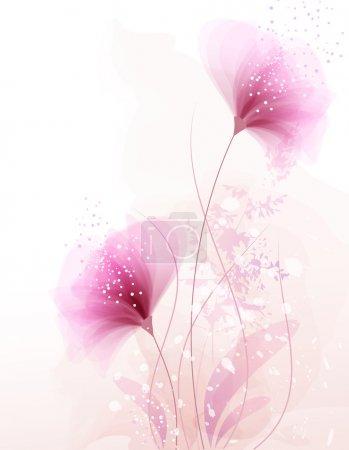 Illustration pour Fond vectoriel avec des fleurs pastel - image libre de droit