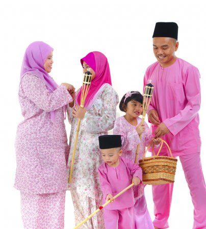 Photo pour Famille raya malais - image libre de droit