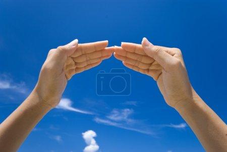 Photo pour Maison symbolisant la main - image libre de droit