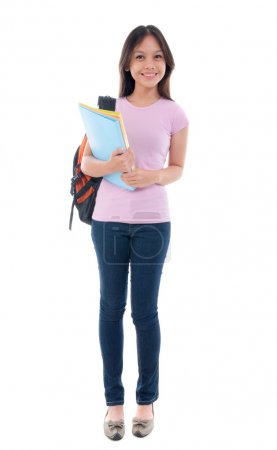 Malay asian student standing...