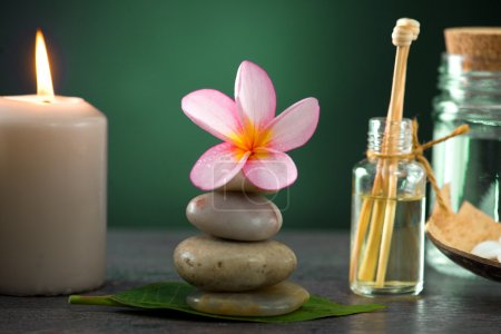 tropical frangipani spa health treatment with aroma therapy and