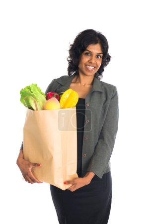 Indian female shopping