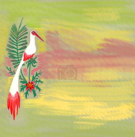 watercolor paint white bird