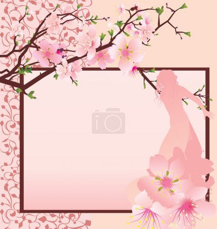 Illustration for Beautiful girl with a pink dress - Royalty Free Image