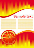 Vector orange juice background