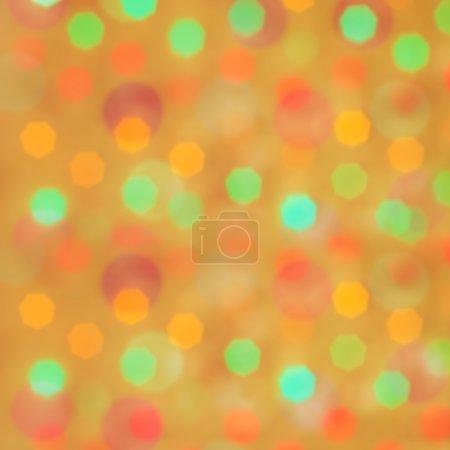 Photo pour Orange festif fond abstrait avec bokeh, image carrée - image libre de droit