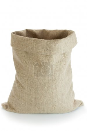 Photo for Linen sack isolated on white background - Royalty Free Image