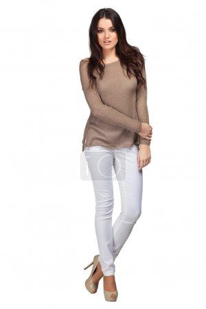 Beautiful female fashion model