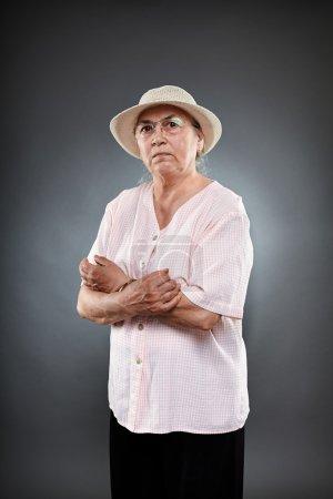 Caucasian senior woman