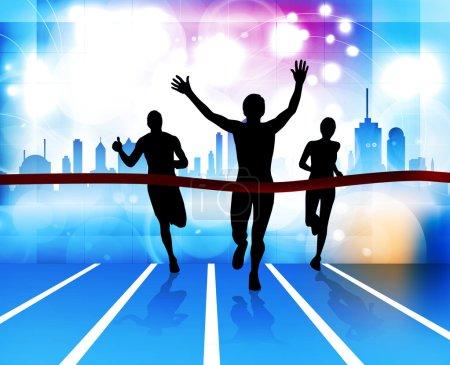 Sport illustration. Running
