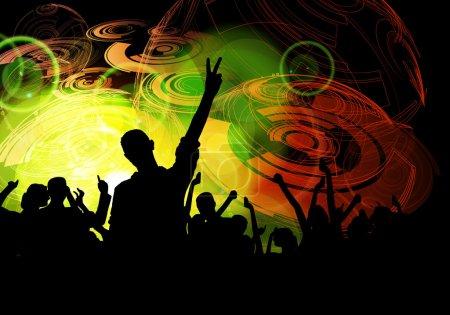 Photo pour Disco flyer festival de concerts de musique - image libre de droit