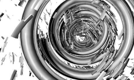 Shiny metal. 3d illustration