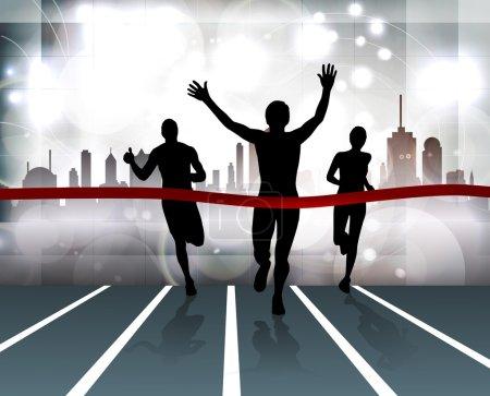 City sport. Runner. Vector