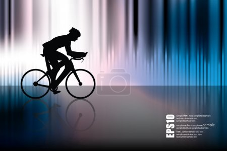 Sport road bike rider bicycle. Vector