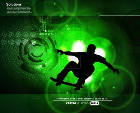 Skateboader. vector