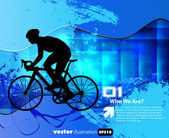 Cyclist abstract background vector illustration