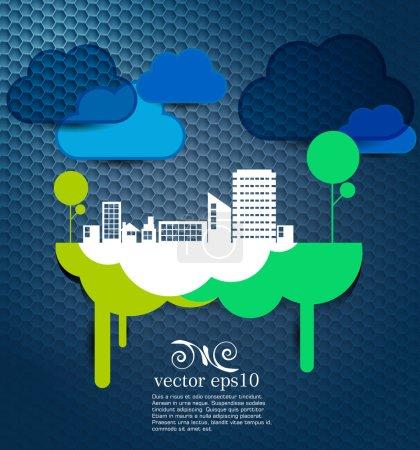 Illustration for Creative urban landscape. Vector - Royalty Free Image