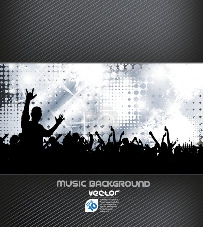 Illustration for Colorful bright music vector backgroung - Royalty Free Image