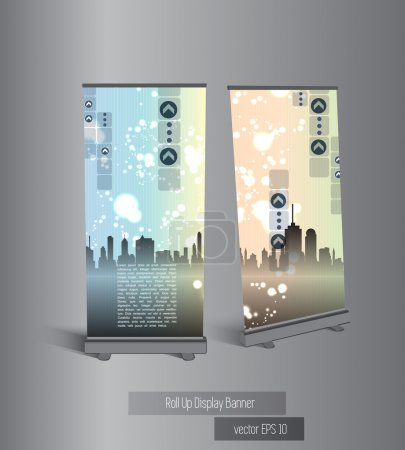 Roll-up with city background
