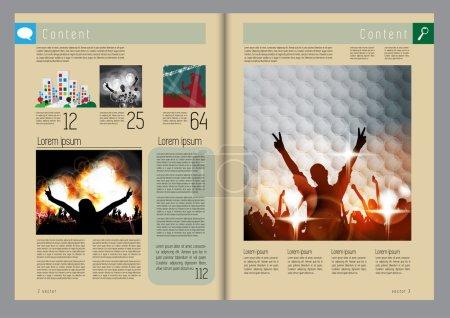 Template music event magazine
