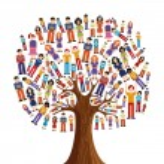 Isolated diversity tree with pixelated illustratio...
