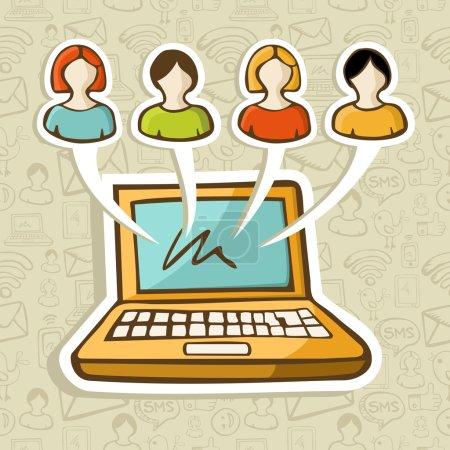 Social media online interaction