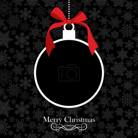 Merry Christmas bauble background