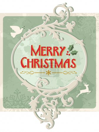 Merry christmas retro sign