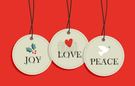 Christmas hang tags sale elements set