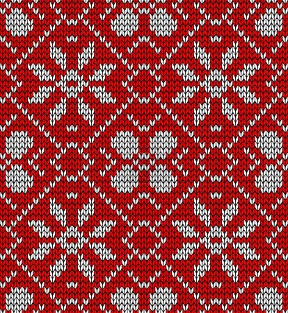 Vintage Christmas knitted pattern