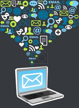 Email marketing campaign icon splash