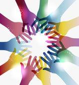 Rainbow transparentnosti rukou kruh