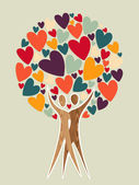 Diversity tree of love background Vector illustration layered for easy manipulation and custom coloring