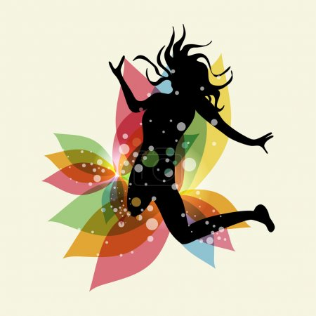 Multicolored free woman