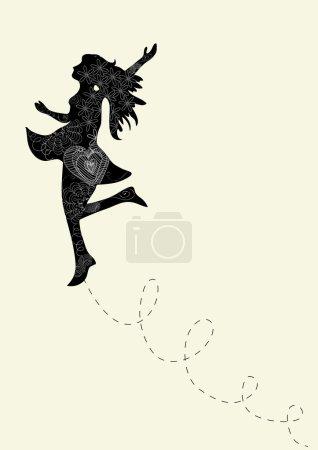 Creative dancing woman