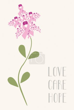 Love care hope flower concept