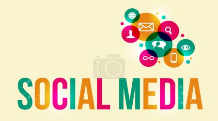 Illustration for Social media background of the icons vector. EPS10 file version. This illustration contains transparencies and is layered for easy manipulation and custom coloring. - Royalty Free Image