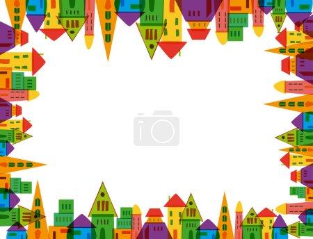 Cute city frame