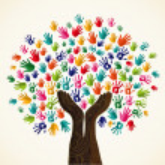 Colorful multi-cultural integration concept tree s...