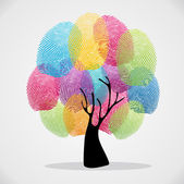 Diversity color tree finger prints illustration background set Vector file layered for easy manipulation and custom coloring