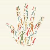 Embrace diversity concept hand