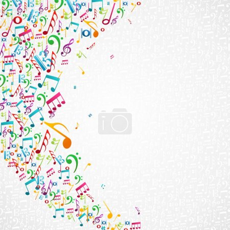 Music notes isolated design