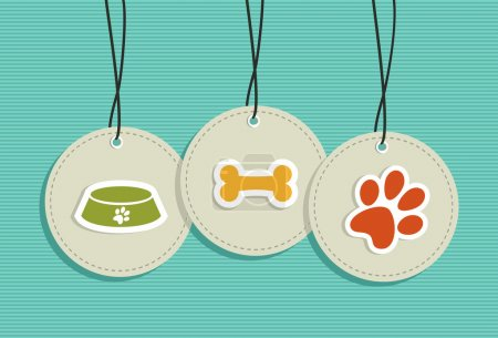 Hanging pet badges set.