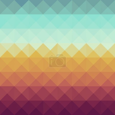 Illustration for Colorful retro hipsters triangle seamless pattern background. Vector file layered for easy manipulation and custom coloring. - Royalty Free Image