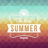 Retro summertime holidays poster