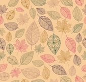 Hand drawn tree leaves seamless pattern background Autumn season concept EPS10 vector file with transparency for easy editing