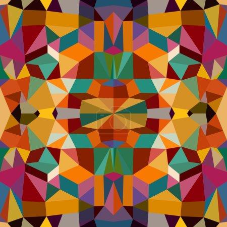 Illustration pour Vintage abstraits éléments géométriques colorés sans couture fond de motif. Fichier vectoriel EPS10 en couches pour une édition facile . - image libre de droit