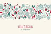 Vintage Christmas reindeer seamless pattern background. EPS10 fi