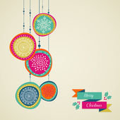 Merry Christmas hand drawn circle baubles vector file